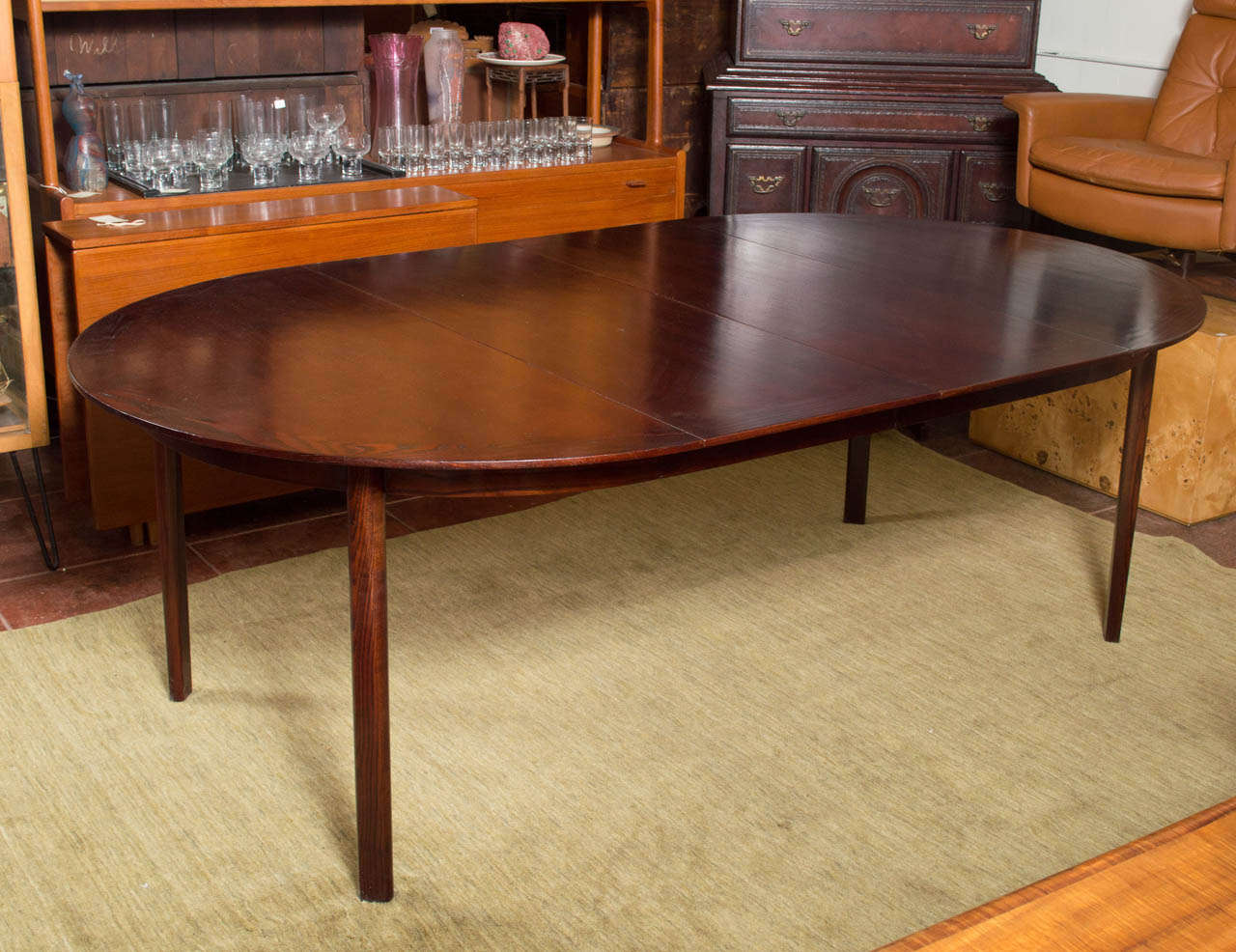 Large dunbar dining table with two leaves saturday sale for Large kitchen tables with leaves