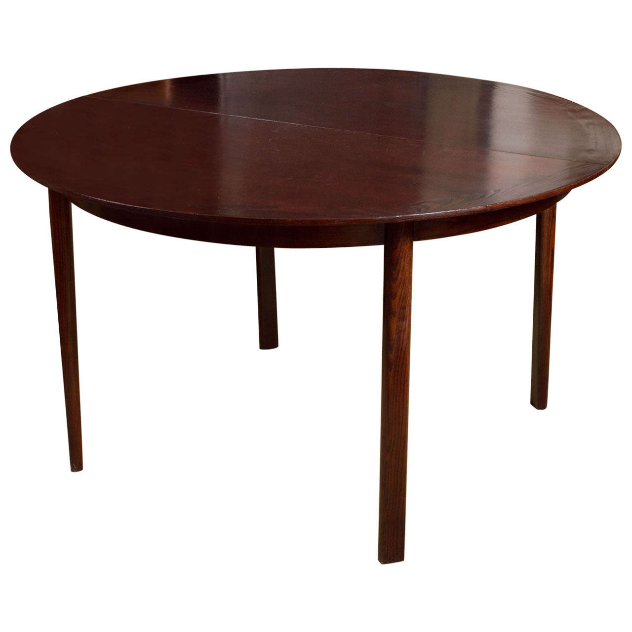 Large dunbar dining table with two leaves saturday sale for Dining room table 2 leaves
