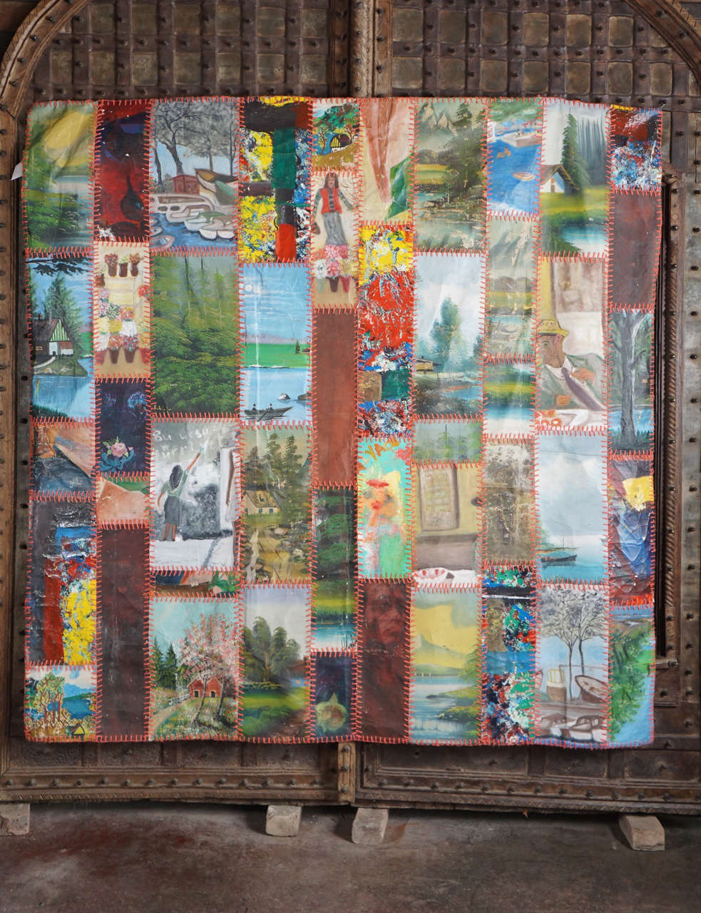 Quilted Painting Assemblage