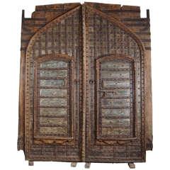 Monumental 19th Century Teak and Iron Fortress Doors