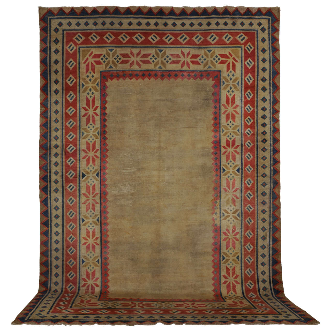 Antique Tibetan Rug: Rare Room Size Antique Tibetan Carpet For Sale At 1stdibs