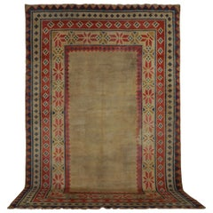 Rare Room Size Open Field Antique Tibetan Rug