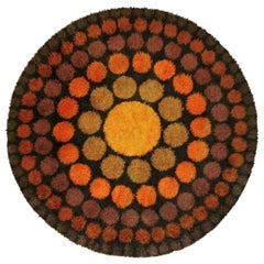 'Roulette' Round Vintage Rug by Verner Panton, 1960s