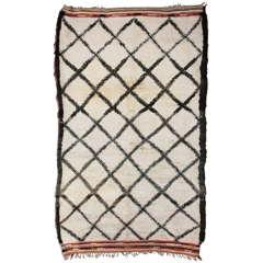 Rare Shorter Beni Ouarain Berber Carpet