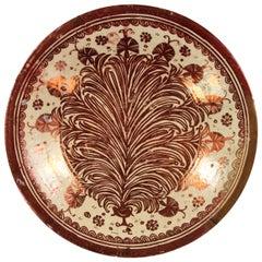 Hispano Maoresque Copper Lustre Bowl