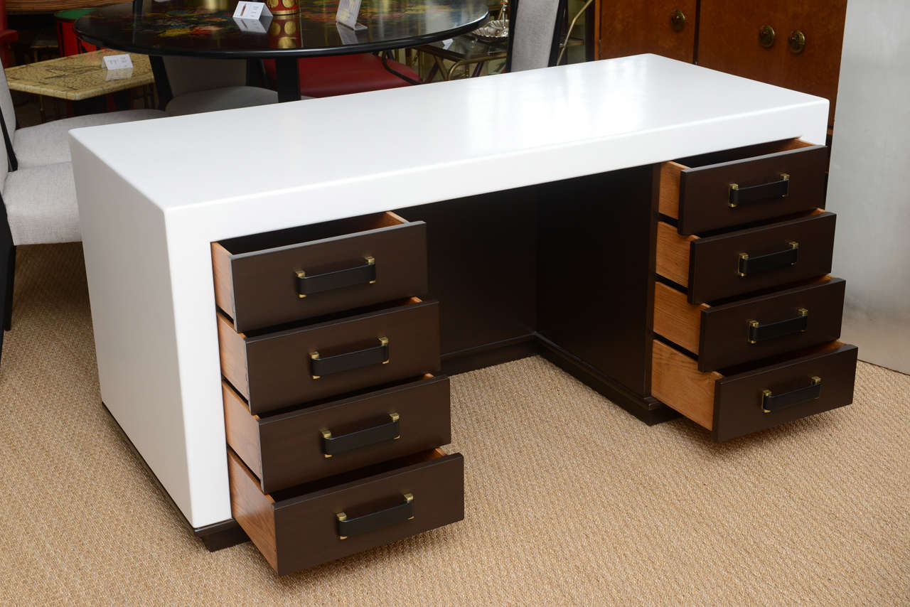 Mid-20th Century Paul Frankl Eight-Drawer Desk For Sale