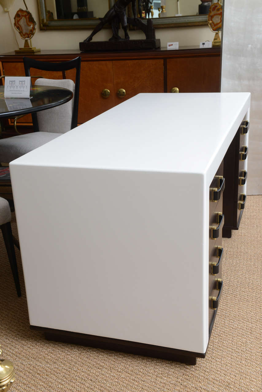 Paul Frankl Eight-Drawer Desk For Sale 2