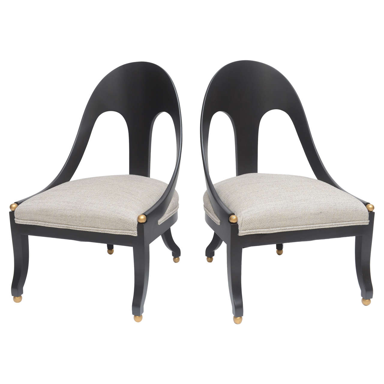 Exceptionnel Pair Of Michael Taylor Chairs For The Baker Furniture Co For Sale