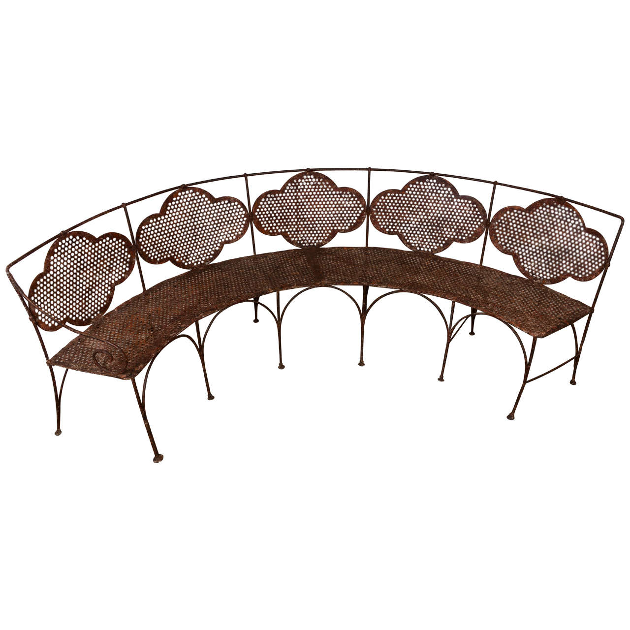 French Iron Bench At 1stdibs