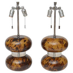 Pair of Karl Springer Lamps