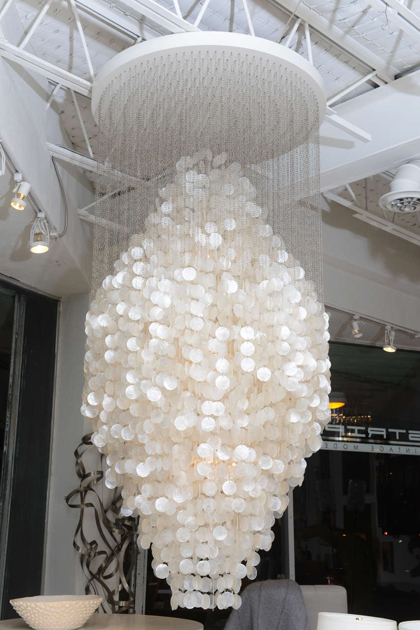 A 1964 Design And The Largest Of Panton S Fun Series This Stunning Chandelier Shimmers