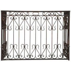 French Country Wrought Iron Radiator Cover Console, France, 1880