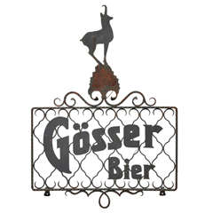 Austrian Iron Beer Sign