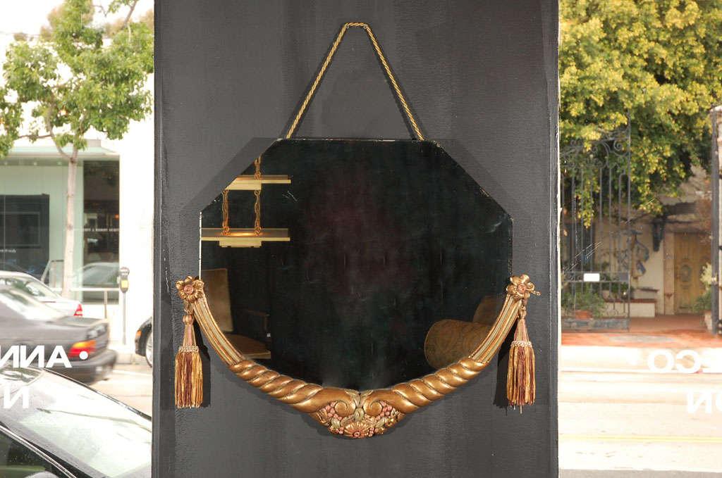 original art deco spiegel jallot zugeschrieben im angebot. Black Bedroom Furniture Sets. Home Design Ideas