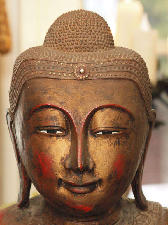 Wood 19th Century Thai Buddah For Sale