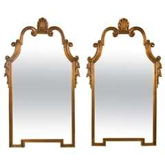 Pair of Hollywood Regency Mid Century Gilt Mirror