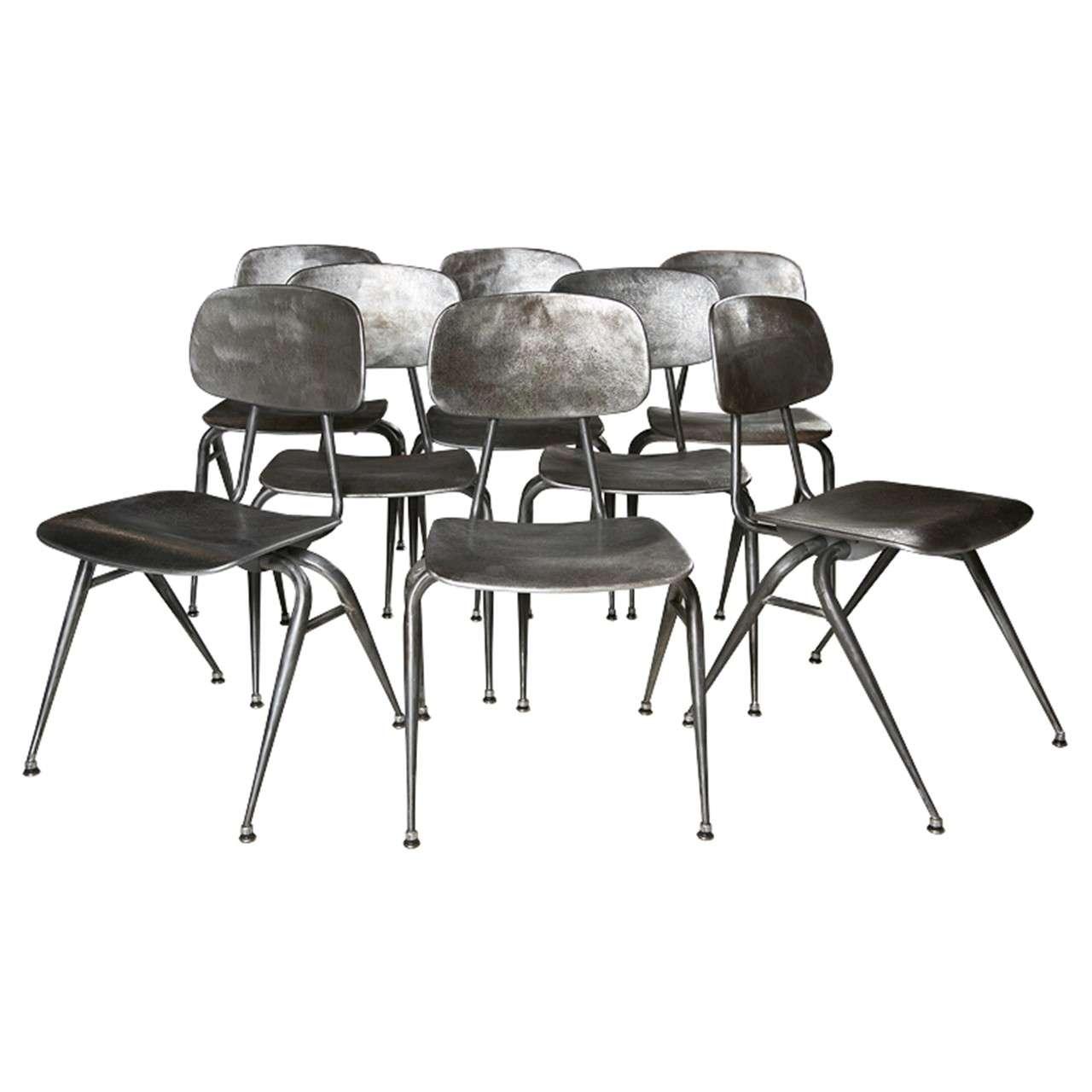 Mid century modern metal chairs at 1stdibs