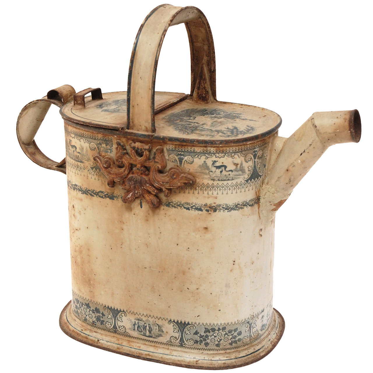 Antique Watering Can At 1stdibs