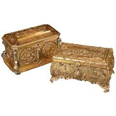 19th C Bronze Dore Boxes