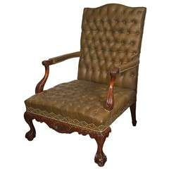 19th c English George II Wingchair