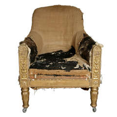 A Highly Important 19th Century Giltwood Chair