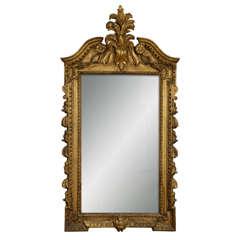 A George II carved giltwood Wall Mirror