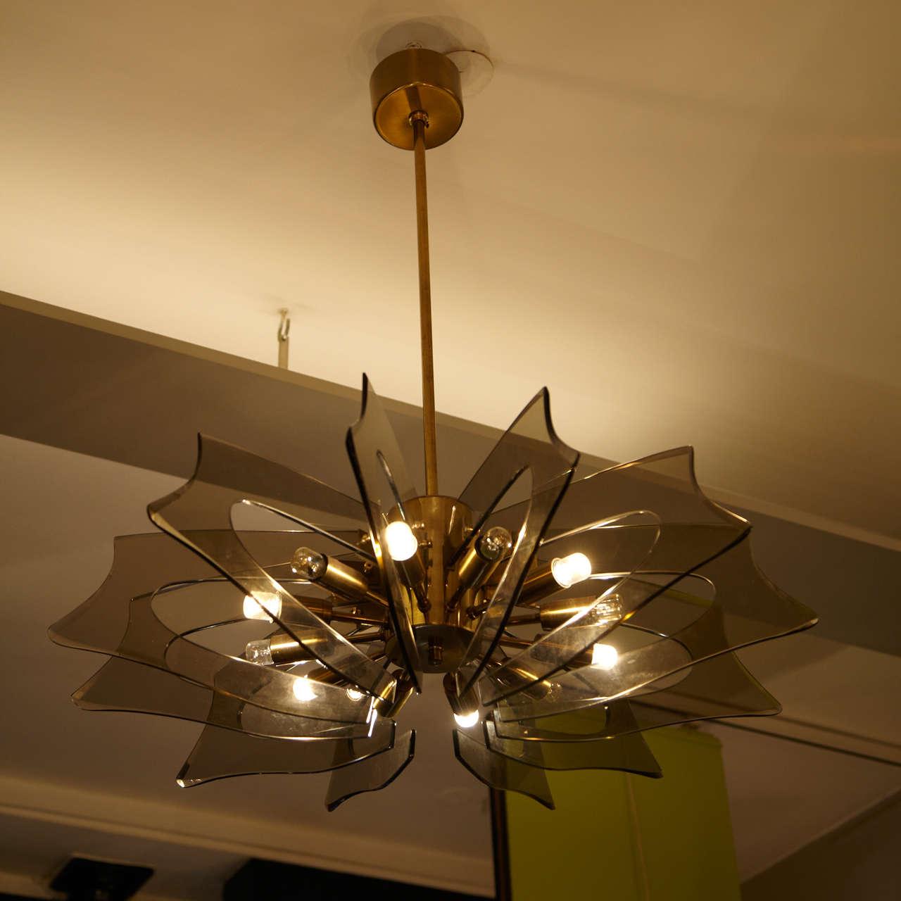 rare 1960 39 s fontana arte style chandelier at 1stdibs. Black Bedroom Furniture Sets. Home Design Ideas