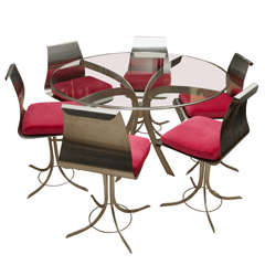 1970s Xavier Freal Dining Table and Six Chairs