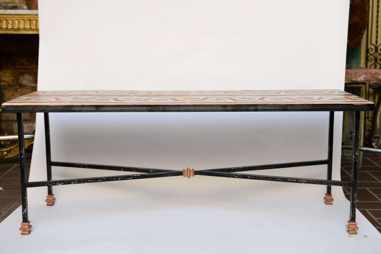 Old Tile Coffee Table Or Bench For Sale At 1stdibs