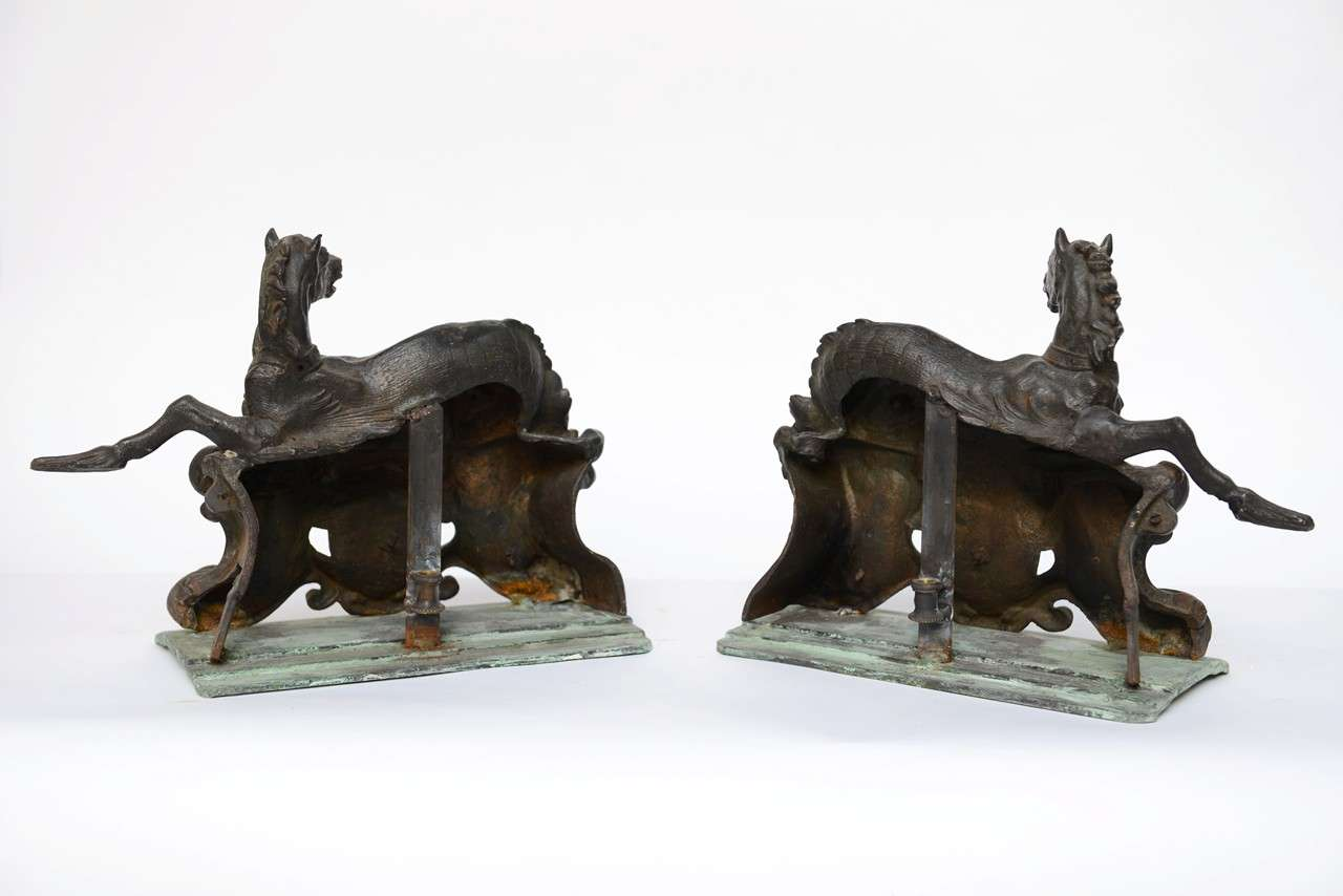 Pair Of Antique One Of A Kind Horses At 1stdibs