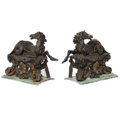 Pair of Antique One of a Kind Horses