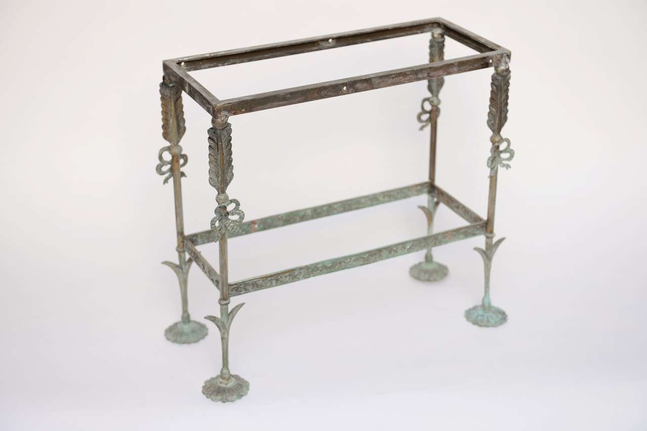 Brass And Sand Stone Side Table At 1stdibs