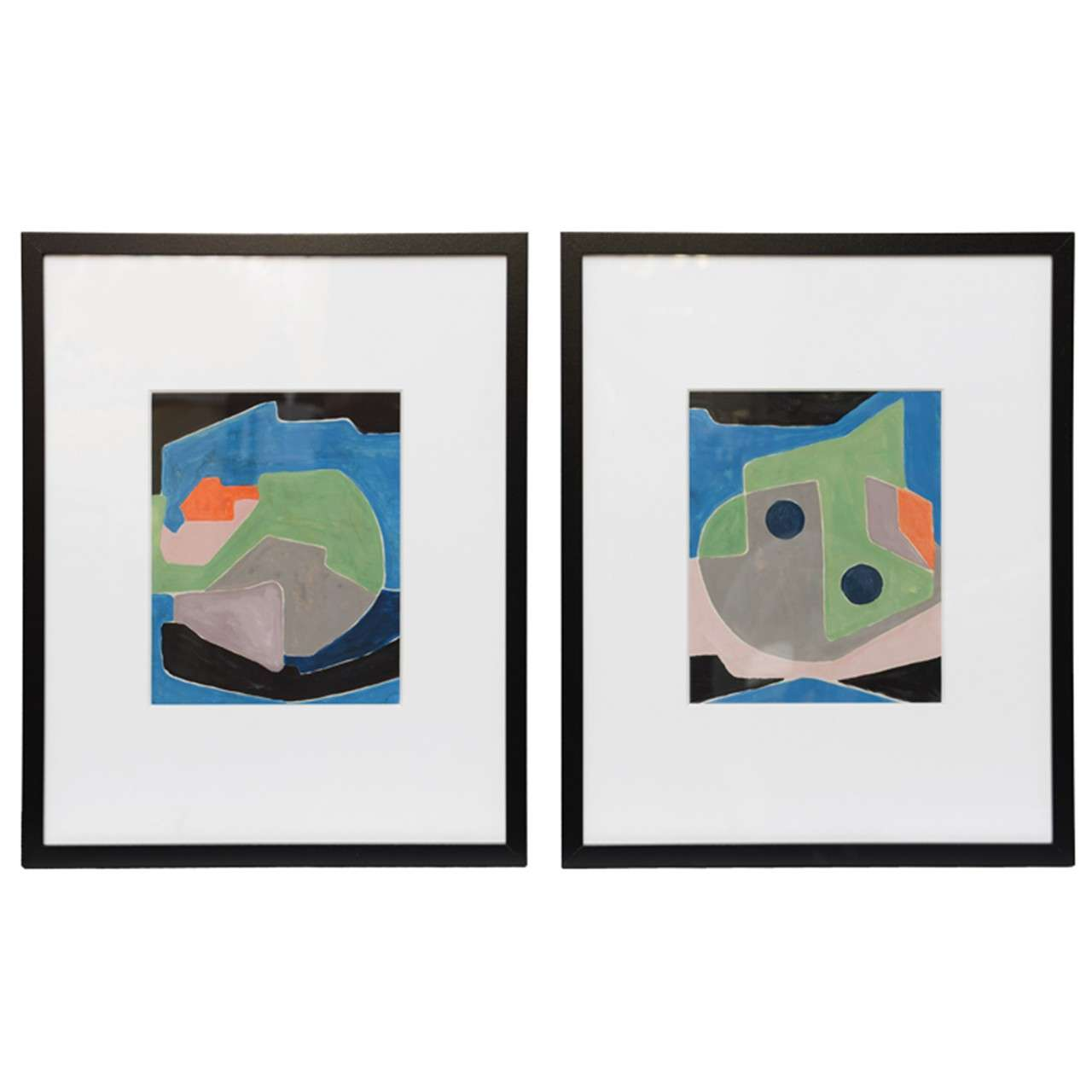 Pair of Abstract Paintings