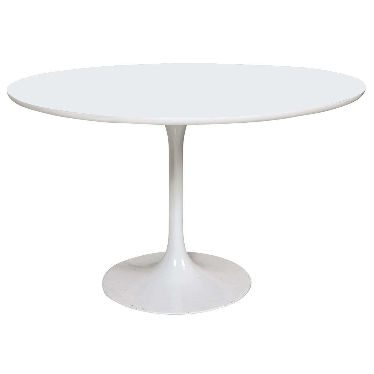 ... Eero Saarinen Mid-Century White Pedestal Table is no longer available