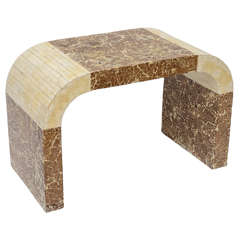 Coconut and Bone Stool