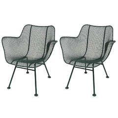 Pair of Sculptura Arm Chairs by Russell Woodard