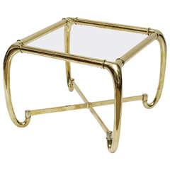 Heavy Brass Italian Side Table