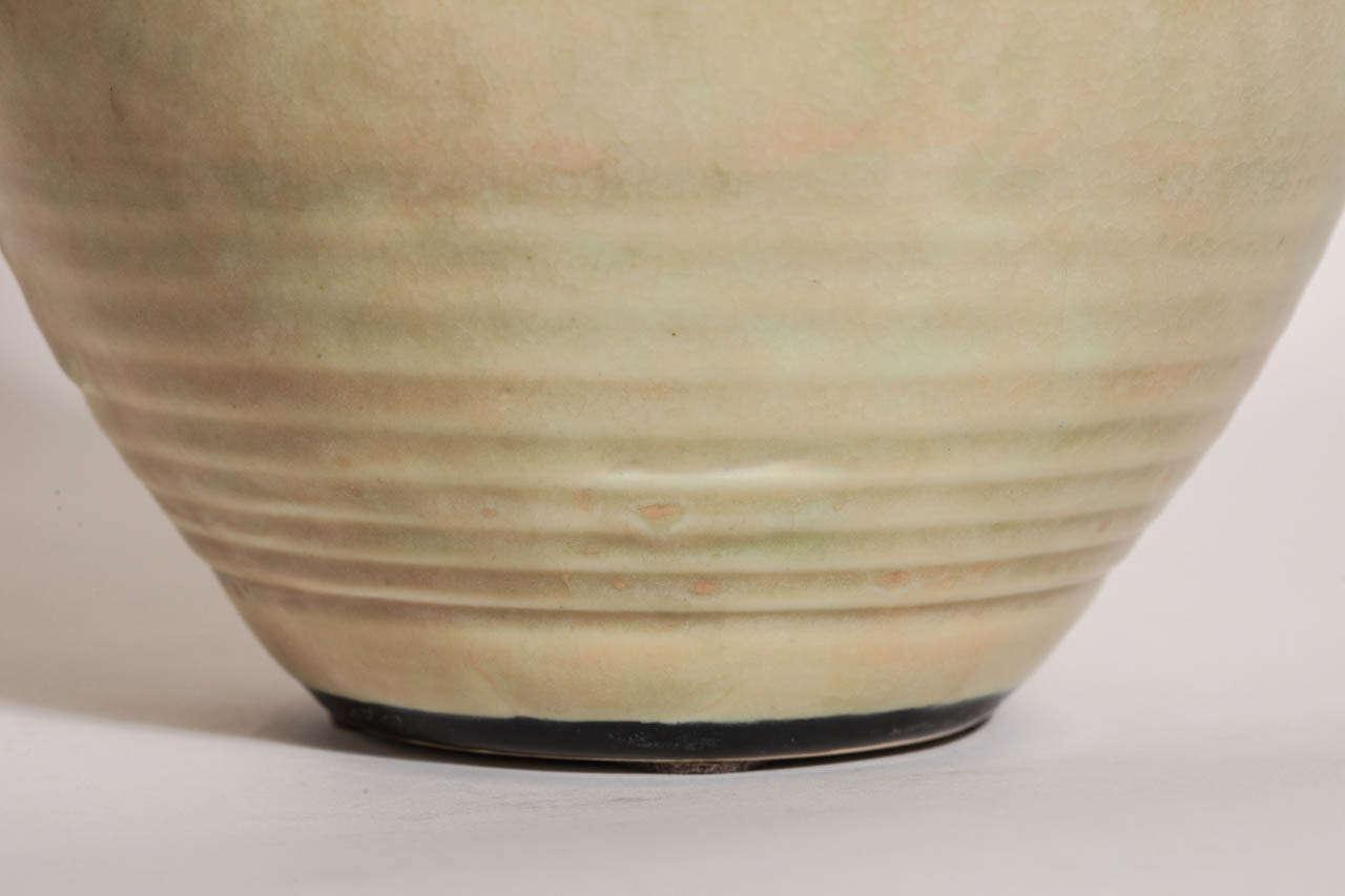 20th Century Emile Decoeur French Art Deco Large Stoneware Vase For Sale