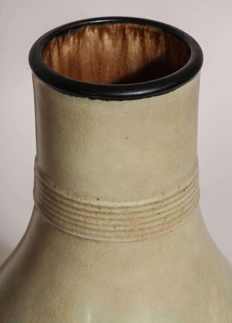 Emile Decoeur French Art Deco Large Stoneware Vase For Sale 1