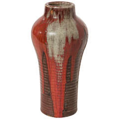Emile Decoeur French Art Deco Stoneware Vase