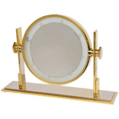 Karl Springer Lighted Table Top Vanity Mirror