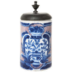 18th Century German Faience Tankard