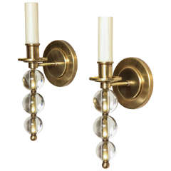 "A Pair of Custom-Made Contemporary Design ""Ephorus"" Single Light Sconces"