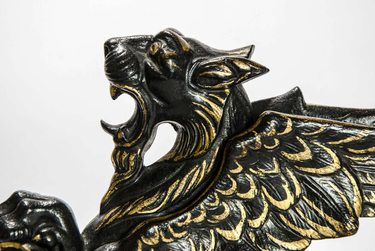 Door Stop in the Form of a Winged Griffon: English, circa 1850 In Good Condition For Sale In London, GB