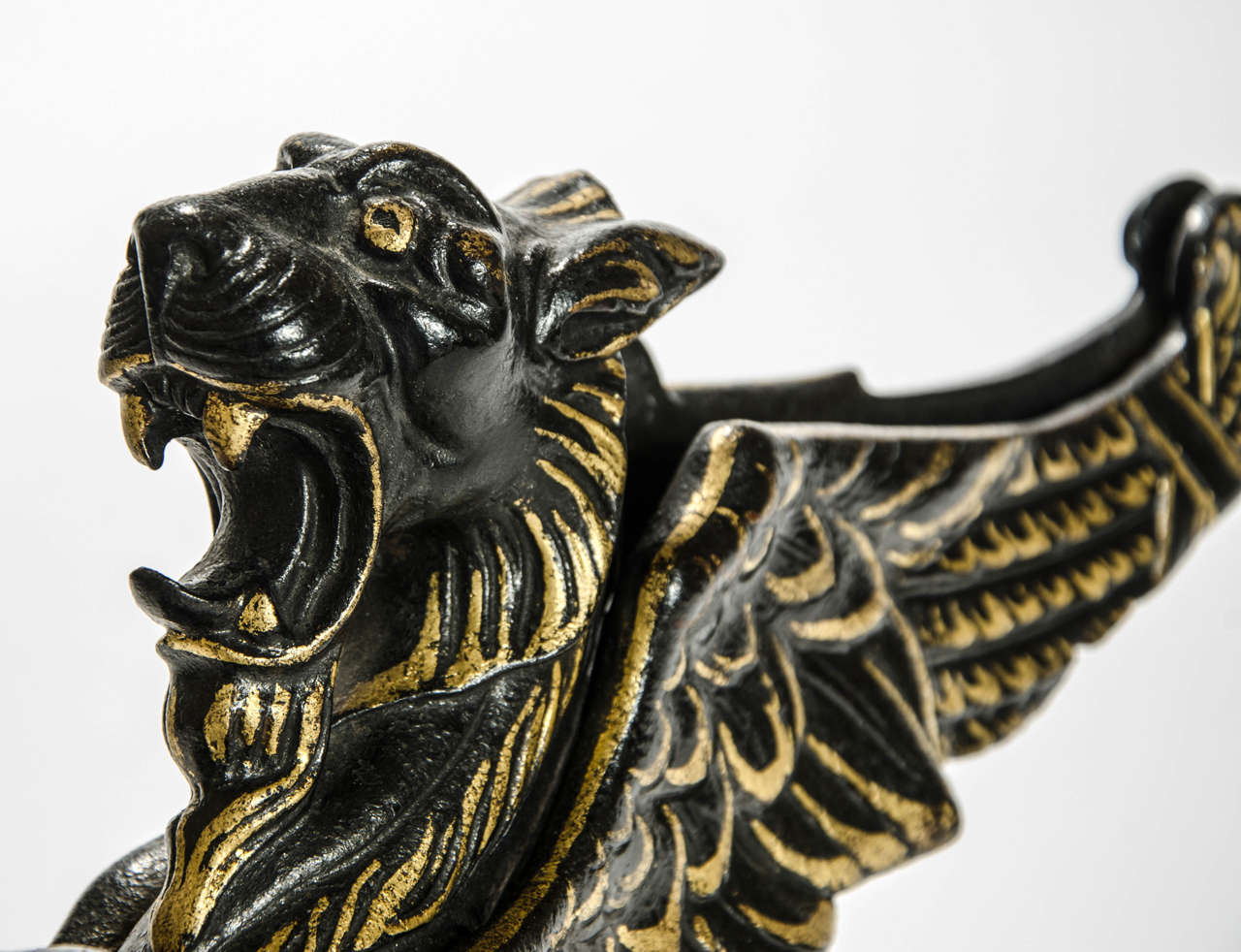 19th Century Door Stop in the Form of a Winged Griffon: English, circa 1850 For Sale