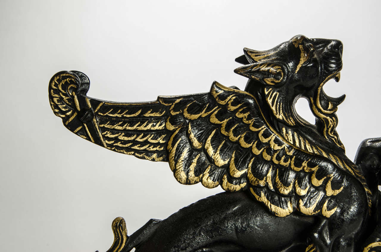 Door Stop in the Form of a Winged Griffon: English, circa 1850 For Sale 2