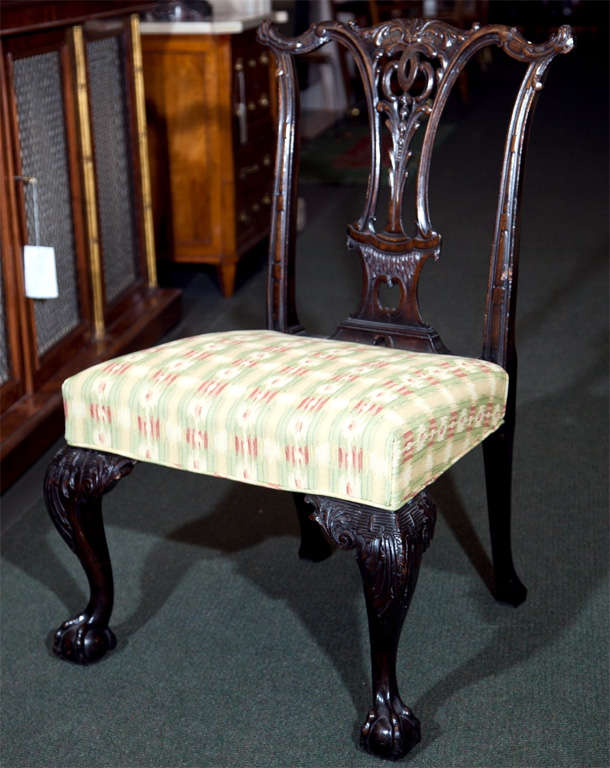English Set of Six Mahogany Side Chairs For Sale