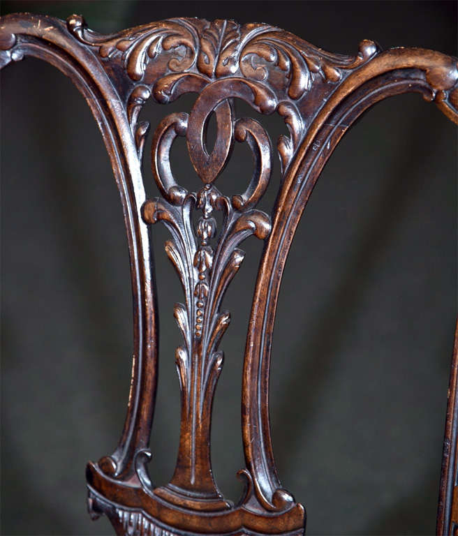 Set of Six Mahogany Side Chairs For Sale 1