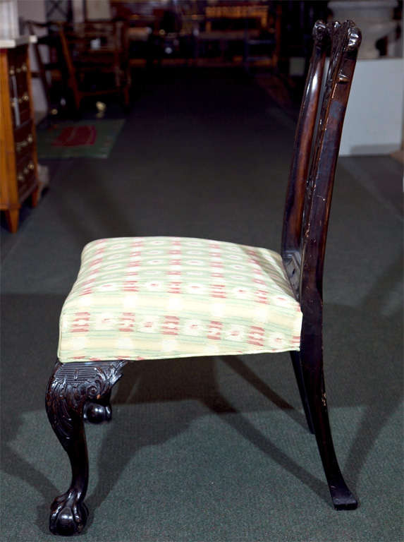 Set of Six Mahogany Side Chairs For Sale 2
