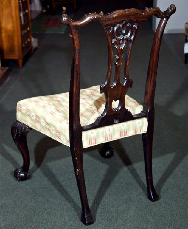 Set of Six Mahogany Side Chairs For Sale 3